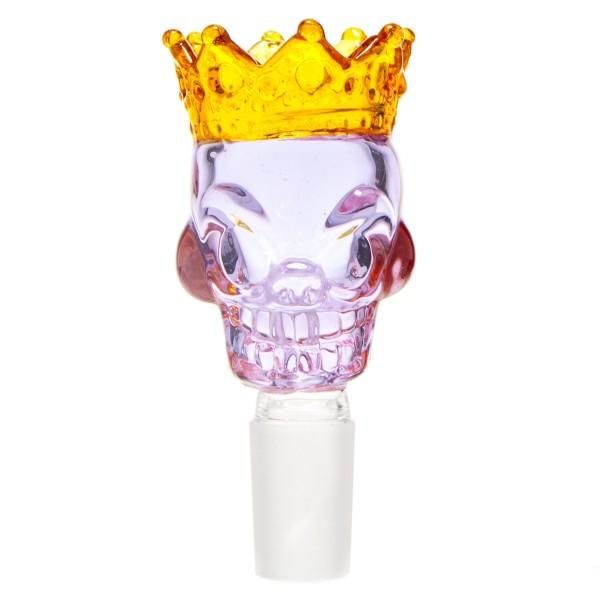 Grace Glass | Skull King Bowl- Purple- SG:18.8mm