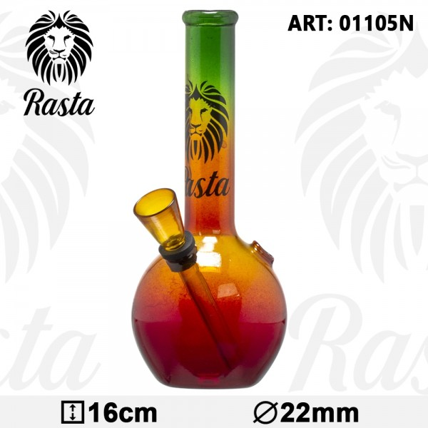 Rasta | Glass Bouncer Bong- H:16cm- Ø:22mm