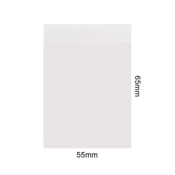 Amsterdam | Zipper Bags 55mm x 65mm 40µ (MU) Clear 1000pcs in a display