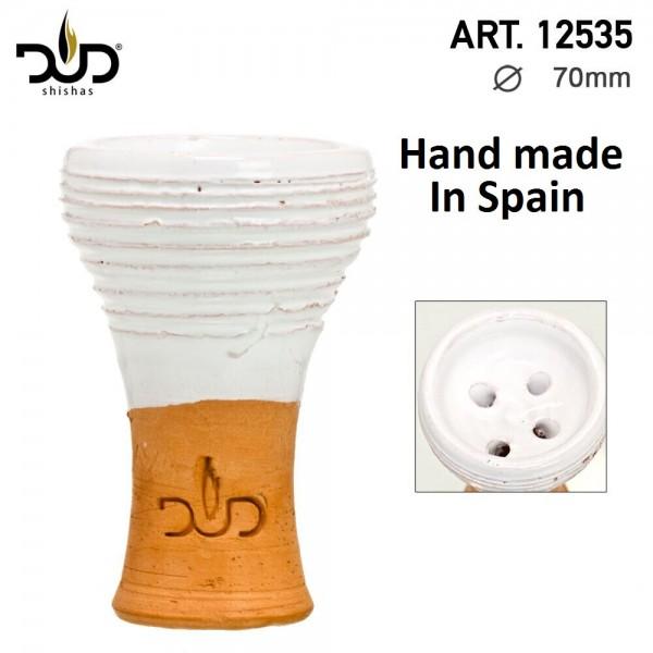 DUD Shisha   Clay bowl-handmade in Spain-white
