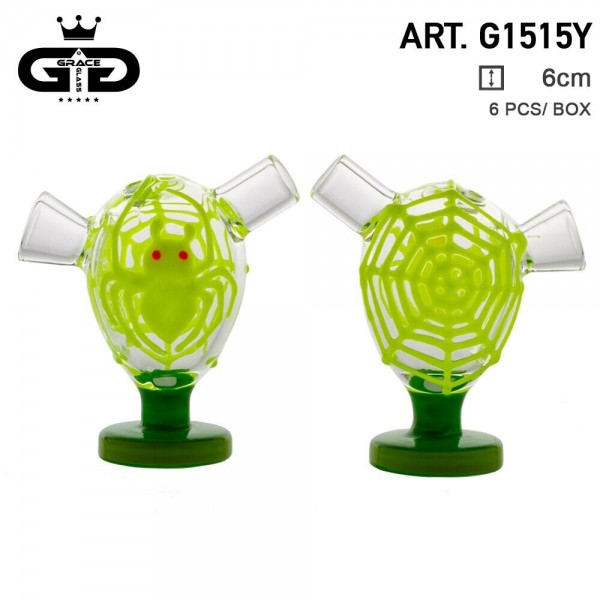Grace Glass | Little Storm Yellow | 6 pcs in display Glow in the Dark