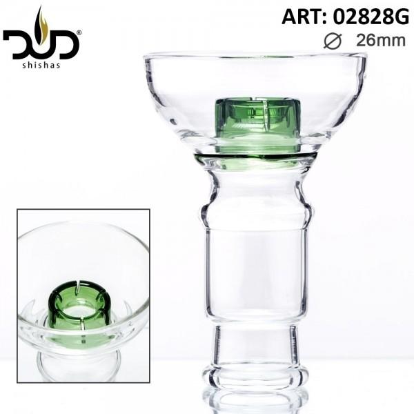 DUD Shisha | Replacement DUD Hookah Glass Bowl- Green (female) Ø:26mm