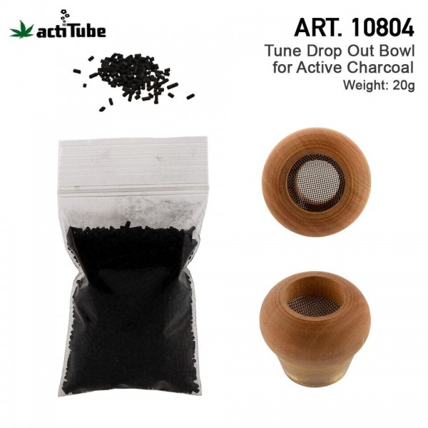 actiTube | Drop Out Bowl BIG for Active Charcoal with 20g Active Charcoal