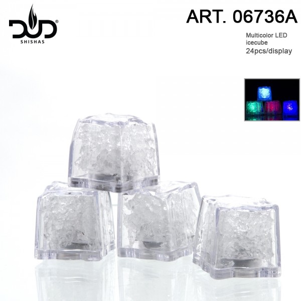 Big Led light Ice Cubes for hookahs 24 pcs in Box