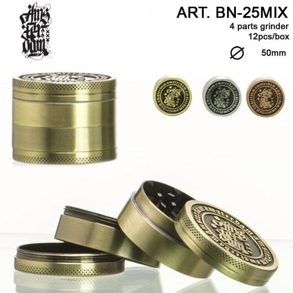 Amsterdam Grinder- 4part- Ø:50mm- 12pcs/box-mixed colors