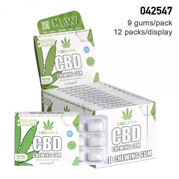 CBD Sativa   CBD Chewing Gum 12 a Display 90 mg