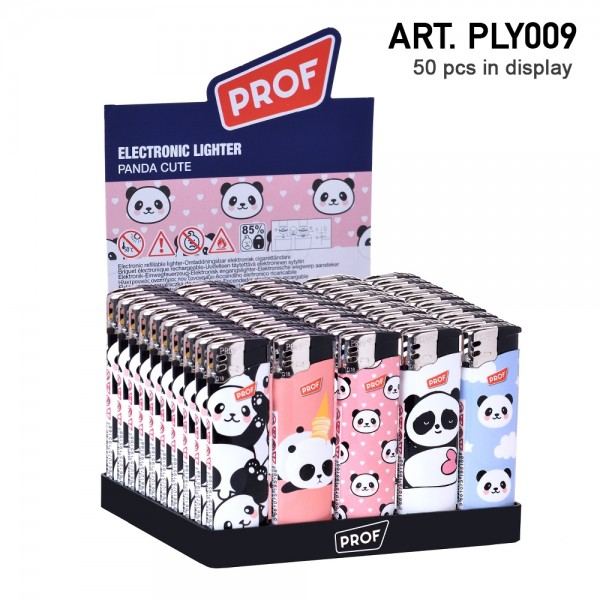 Prof | Cute Panda lighters 50 pcs in a display