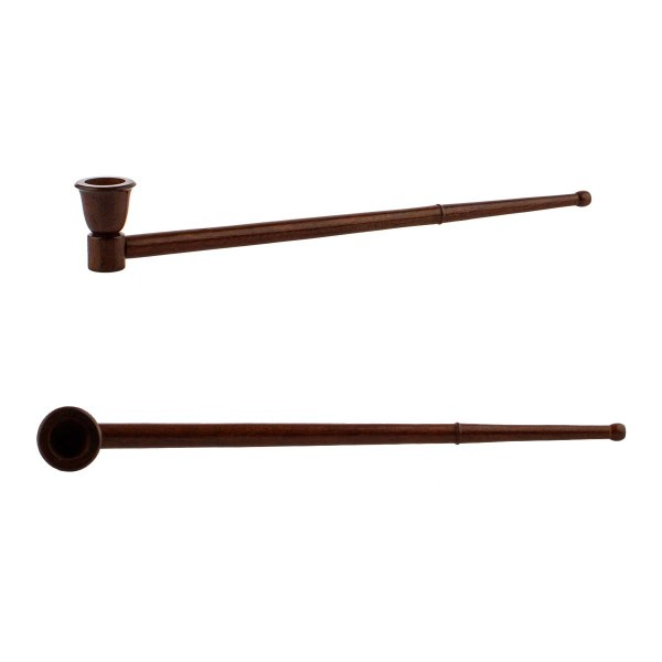 Amsterdam   Wooden Pipe 32 cm - 6 pcs in box