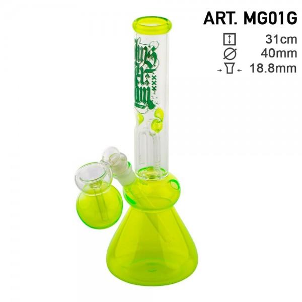 Amsterdam   Bong Glass Oil - H: 30cm Ø: 40mm S: 18.8mm
