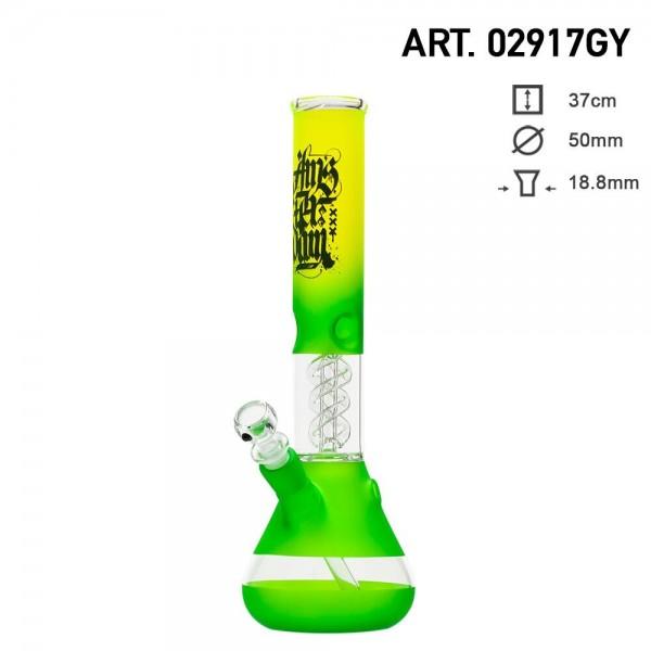 Amsterdam   Bong Glass - H:37cm- Ø:50mm-SG:18.8mm-ice noches