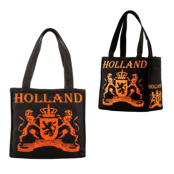 Amsterdam Canvas Small Holland Black Orange