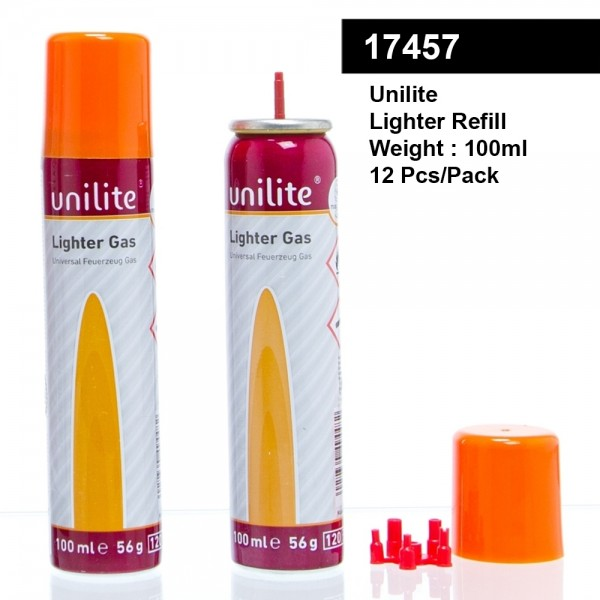 Unilete | 11964-01 LG-100 Unilite Lighter-Gas - 12 pcs./pack - 100ml