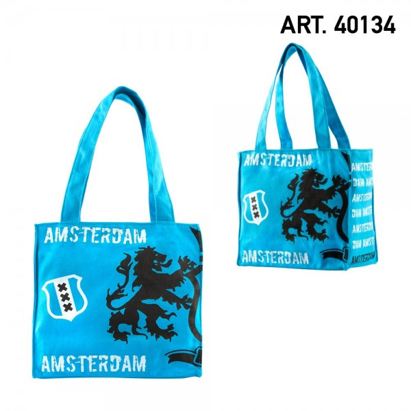 Amsterdam Canvas Small Lion Blue