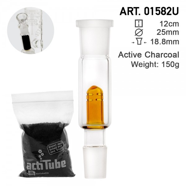 Amsterdam   Active Charcoal Adapter 18.8mm Socket plus Tune 20g Active Charcoal Pack