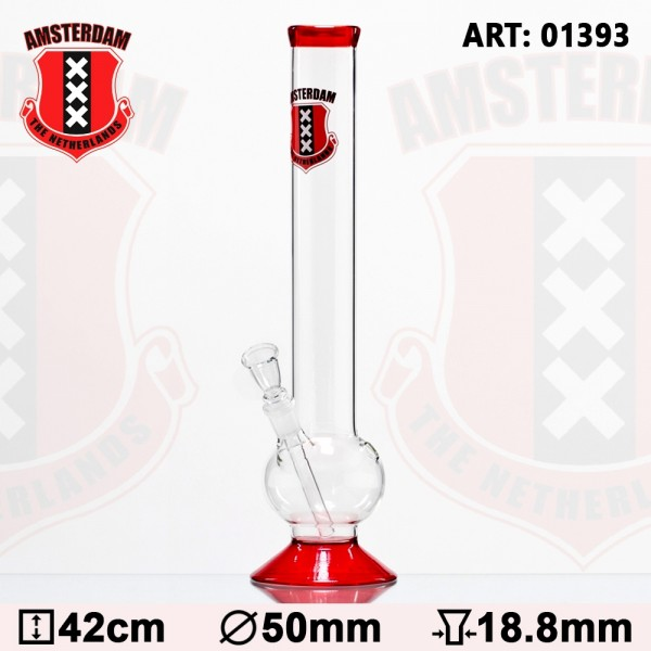 Amsterdam Bouncer Glass Bong - H:42cm - Ø:50mm- SG:18.8mm