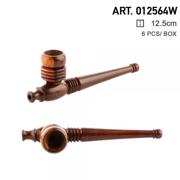 Amsterdam | Wooden Pipe 12.5 cm - 6 pcs in box
