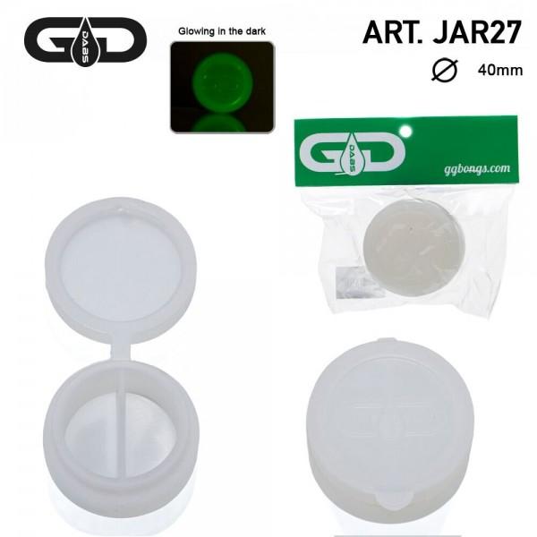 Grace Glass | Dabs GLOW IN THE DARK Silicon Jar- Ø:40mm