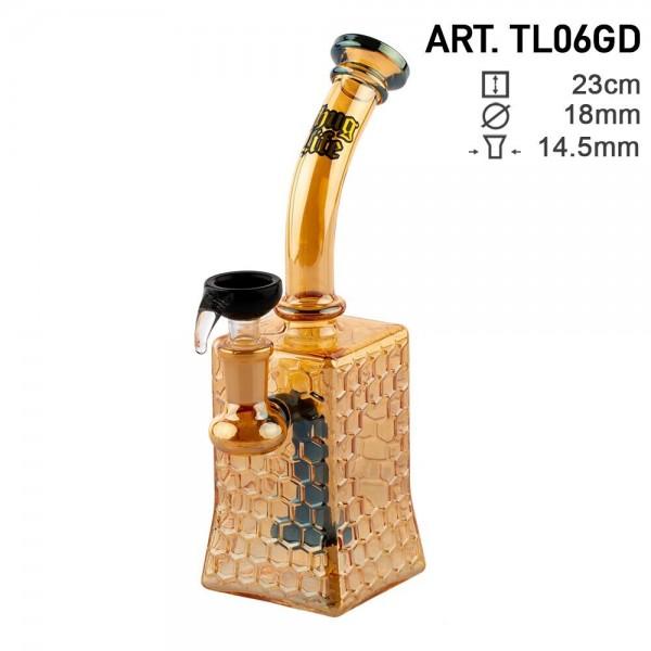 Thug Life | Bubbler Giza Gold - H:23cm - Ø:18mm - SG:14.5mm