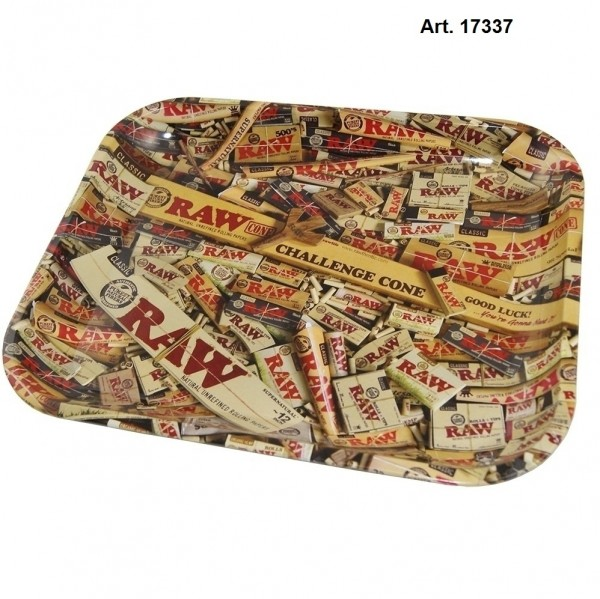 RAW | METAL ROLLING TRAY - MIXED PRODUCTS H:27.5cm W:34cm