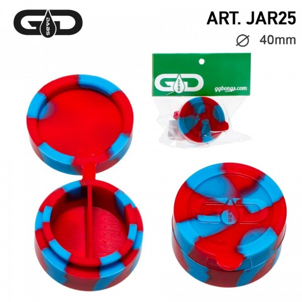 Grace Glass | Dabs Silicon Jar- Red Blue- Ø:40mm