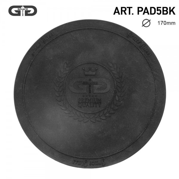 Grace Glass | Small silicon Pad - Underlay for Bongs- BLACK- Ø:170mm-single piece