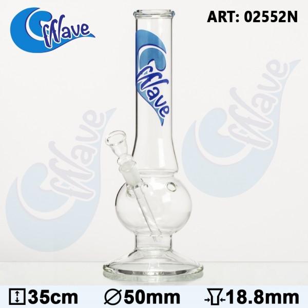 Bong Glass Wave Bolt - Ø:50mm - H:35cm - Socket:18.8mm