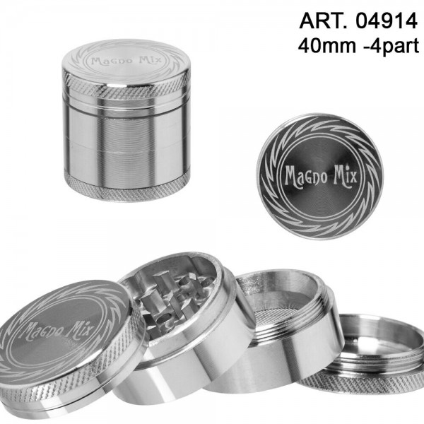 Magno Mix | Grinder- 4part - Ø:40mm - Silver