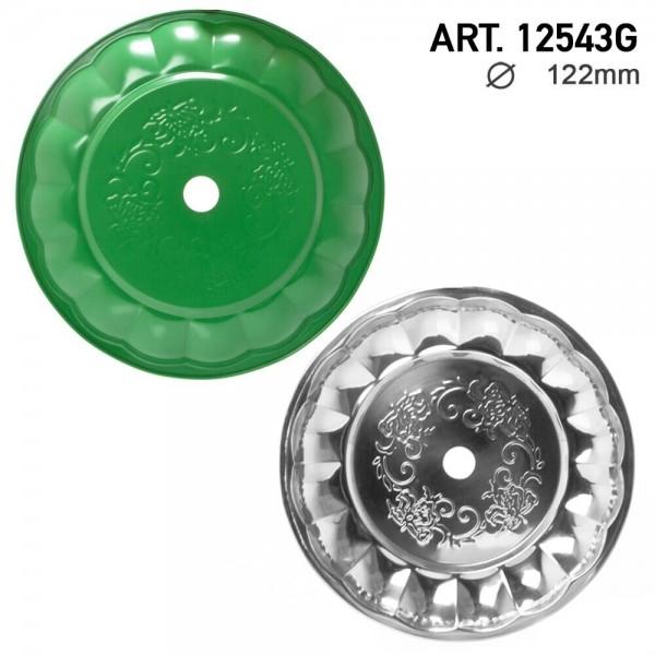 DUD Shisha   Ashplate- Green-Silver -22cm