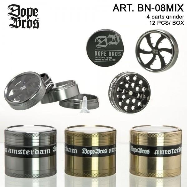 Dope Bros | Grinder- 4part- Ø:50mm-12pcs/box