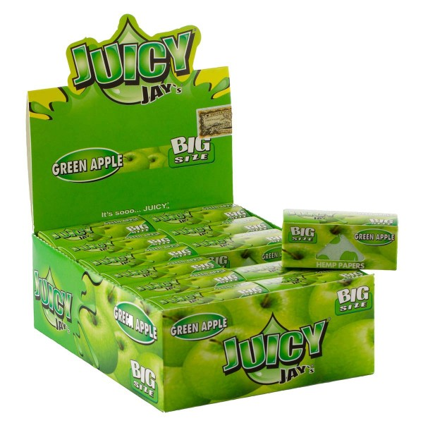 Juicy Jay's | Green Apple flavored Roll 5m - 24pcs in a display