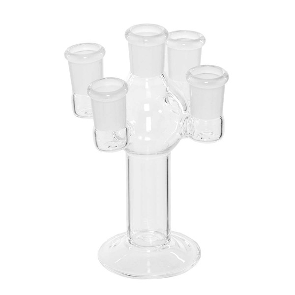 Stand Slide Holder - H:15,5 cm Glass slide stand with 5 holders fits on any 18.8 mm male joint