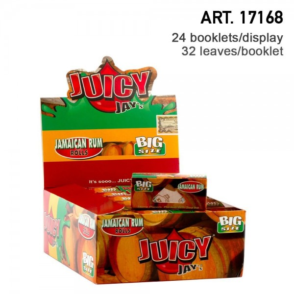 Juicy Jay's | Jamaican Rum flavored Roll 5m - 24pcs in a display