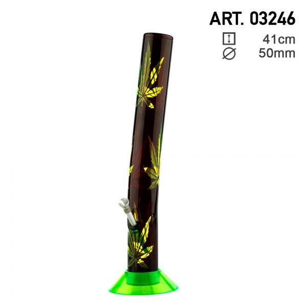 Leaf | Acrylic Bong H:41cm - Ø:50mm