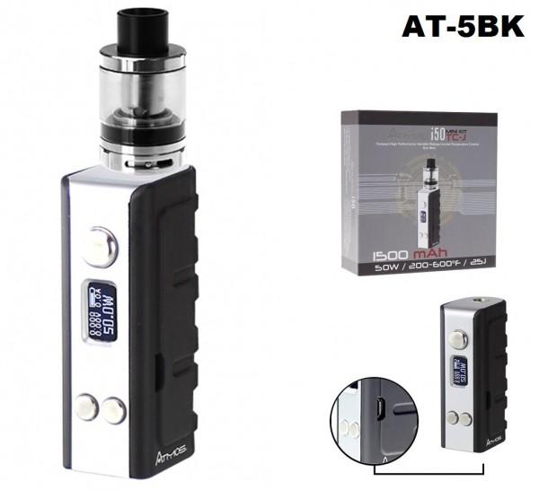 Atmos i50TC-J Electronic Cigarette Mod-0.5ohm Organic Japanese Cotton Atomizer-1500mAh battery-LED S