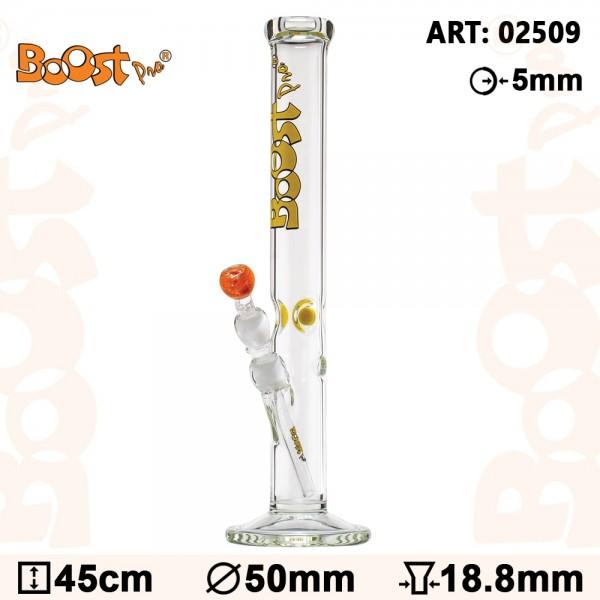 Boost Pro Cane Bong- Yellow- H:45cm- Ø:50mm- Socket:18.8mm- WT:5mm (circa)