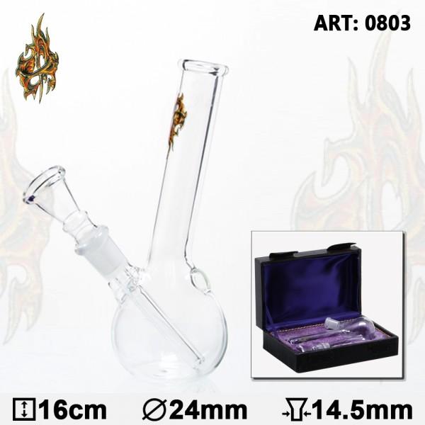 Glass Bong | In Box- H:16cm- Socket:14.5mm