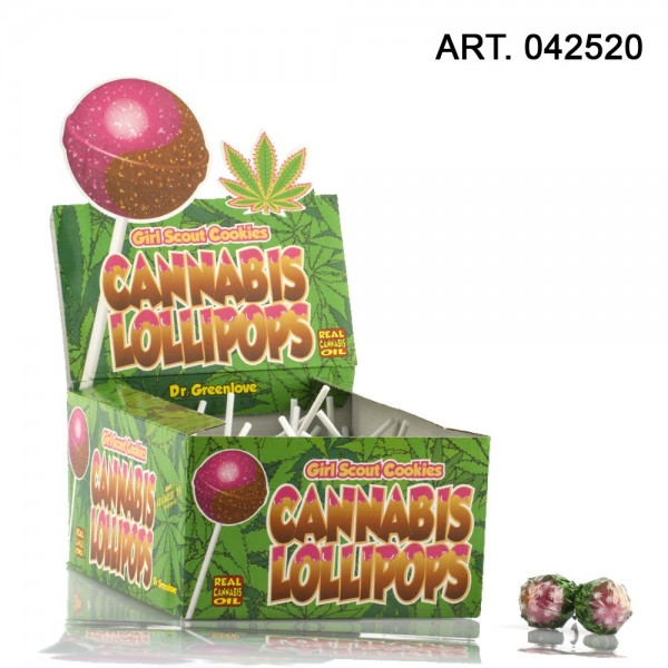 Cannabis | Lollipops Girl Scout Cookies 70pcs with real cannabis oil / These THC free Cannabis Lolli