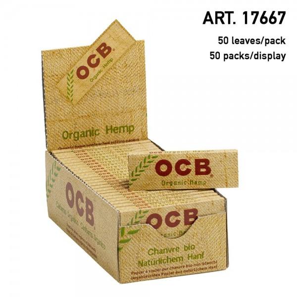 OCB | Organic Hemp 1 1/4 Size 50 leaves per booklet and 50 booklets per display