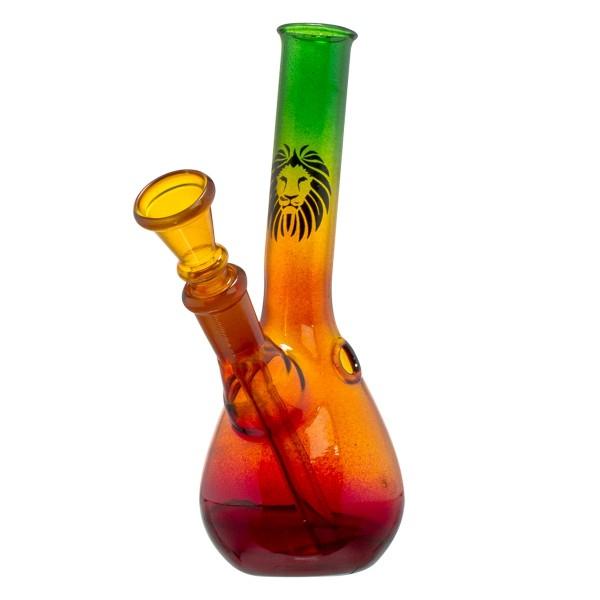 Rasta Beaker Hangover Glass Bong - H:14cm - Ø:22mm - Socket:12mm