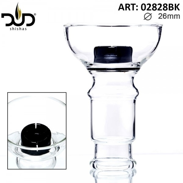 Replacement DUD Hookah Glass Bowl- Black (female)