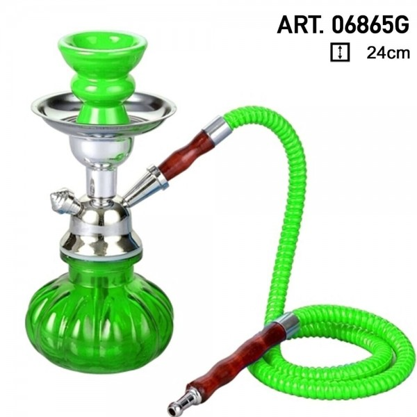 Pumpkin | Hookah- Green- H:24cm - green hose - 24pcs/master carton