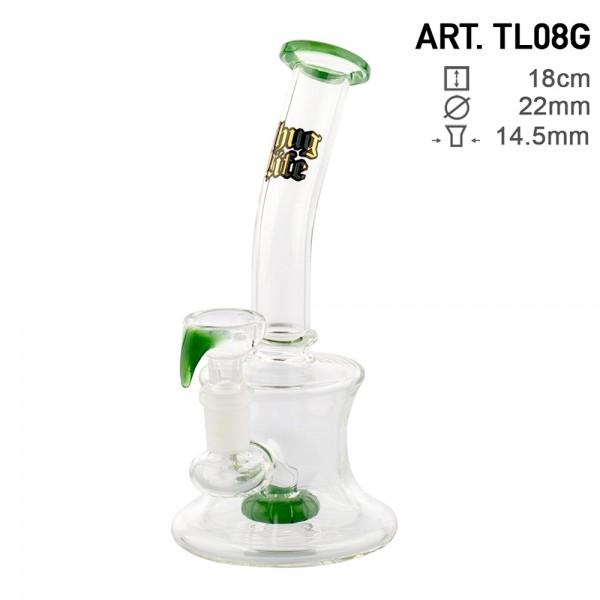 Thug Life | Round Beaker Green - H:18cm - Ø:22mm - SG:14.5mm