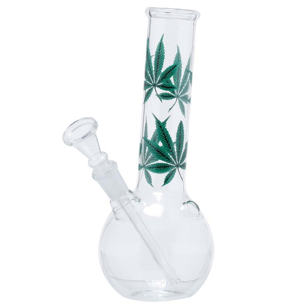 Leaf | Multi Leaf Glass Bong- H:22cm - Ø:36mm - Socket:14.5mm