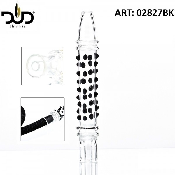 DUD Shisha | Hookah Mouthpiece with black glass beads- Ø:30mm- L:21cm