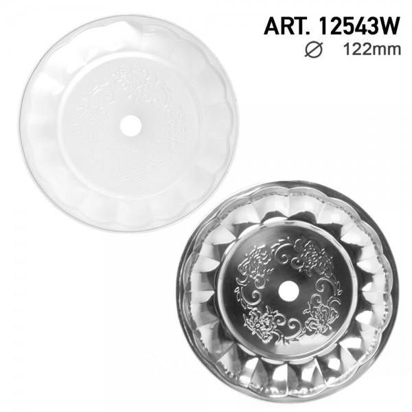 DUD Shisha | Ashplate- White-Silver -22cm