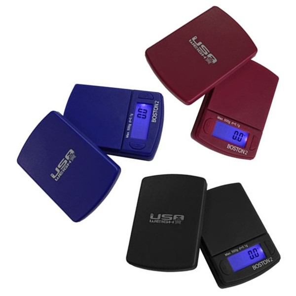 USA Weight | Boston2 digital scale 500G/0.1G Black/Red/Blue