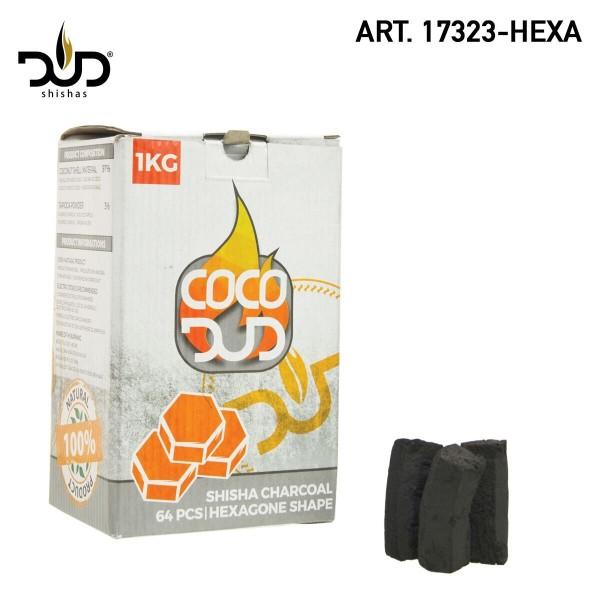 DUD Shisha | CoCo DUD Hexa-charcoal-64pcs/box