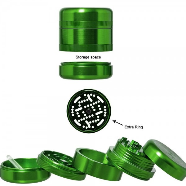 Grace Glass   Grinder - American Style - Ø:55mm - 5 parts - With 2 different plates