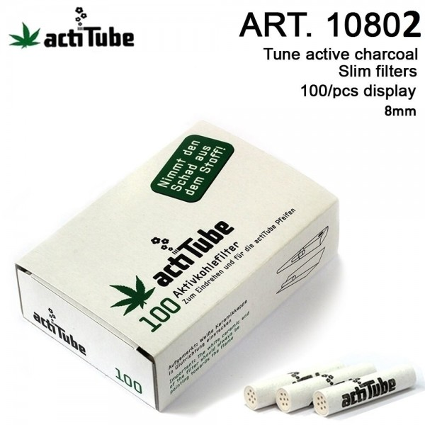 actiTube | Active Charcoal Filters Package 100pcs-8x36mm