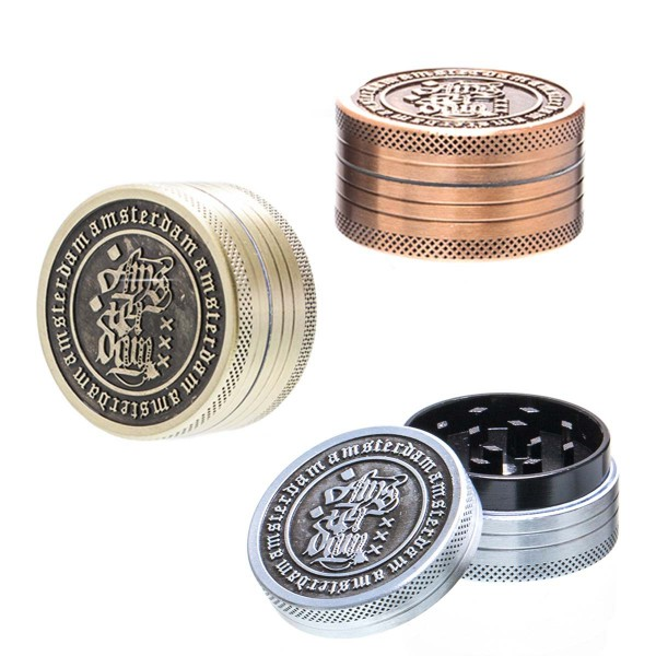 Amsterdam Grinder- 2part- Ø:40mm- 12pcs/box-mixed colors